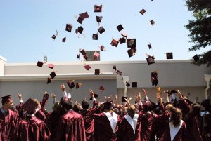 The Class of 2012 celebrates Commencement.